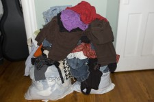 I gave away a ton of clothing.