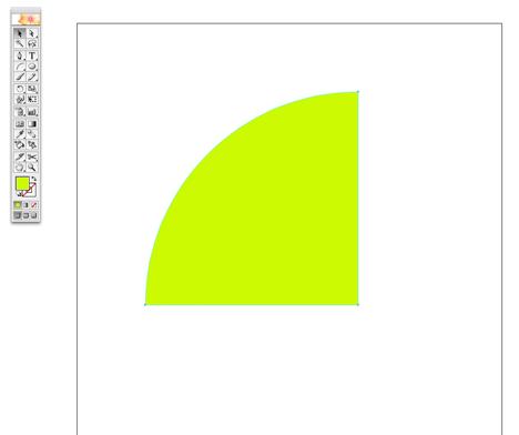 A quarter circle