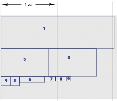 Cutting layout for shirt alone