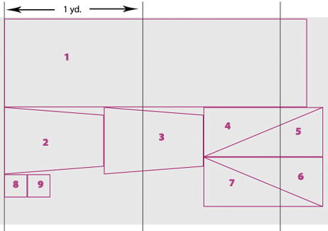Cutting layout for smock alone